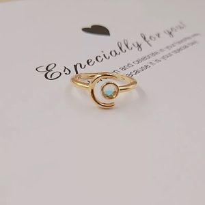 Gold over Sterling Silver Moon Ring